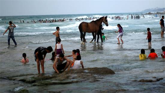 חוף הים בעזה, צילום: רויטרס