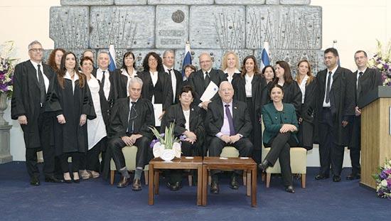 """השופטים החדשים והנשיאים / צילום: מארק ניימן - לע""""מ"""
