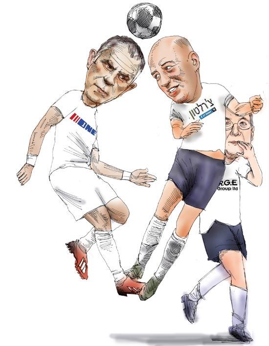 השחקנים בשוק שידורי הספורט/ איור: גיל ג'יבלי