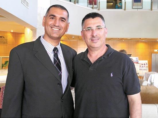 גדעון סער (מימין)  ודודי בן גל / צילום: קרן פנחס