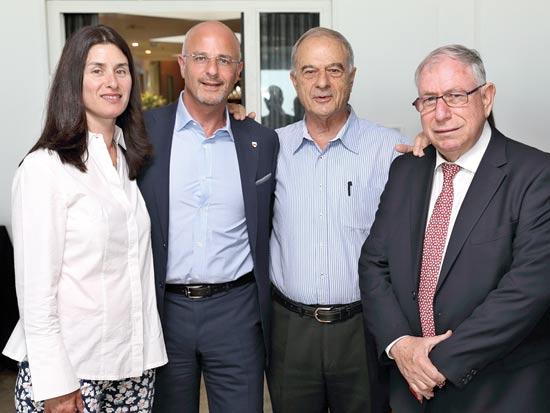 אורן שחור, אוריאל לין, גדעון ודפנה פישר /  צילום: גיל ארצי