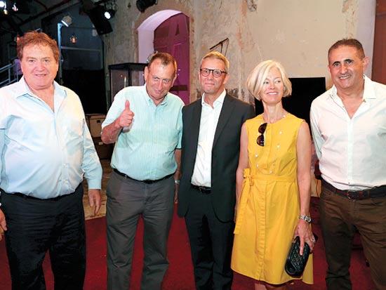 רונן אבישר, בני הזוג יאהר, רון חולדאי,  רוני קוברובסקי / צילום: גלעד ארצי