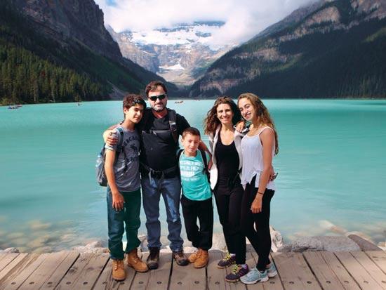 משפחת שגיא בהרי הרוקי / צילום: אלבום משפחתי