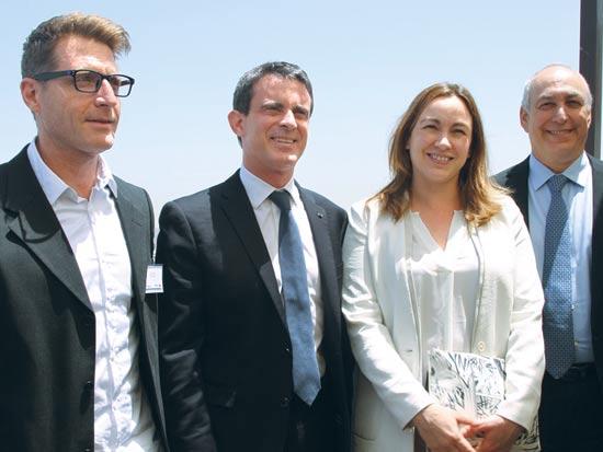 חמי פרס, אודרי אזולאי, מנואל ואלס ורועי אורון / צילום: מרין קרוזט