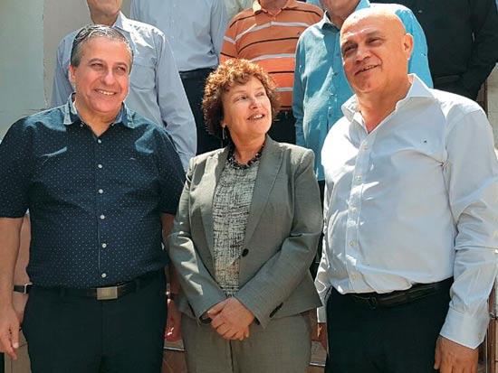 """עז א-דין סרסור, קרנית פלוג, חזי כאלו / צילום: יח""""צ"""