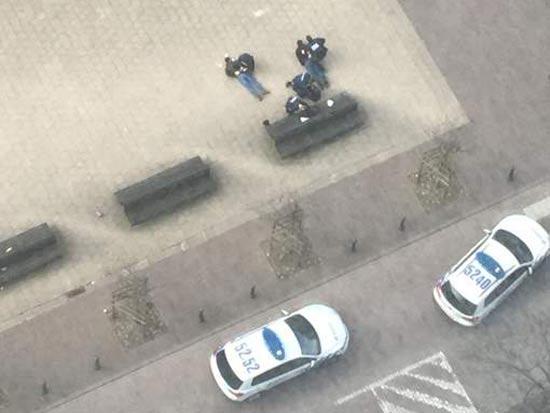 מעצר חשודים בבריסל / צילום מסך טוויטר