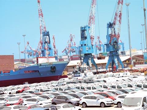 כלי רכב חדשים בנמל אשדוד / צילום: תמר מצפי