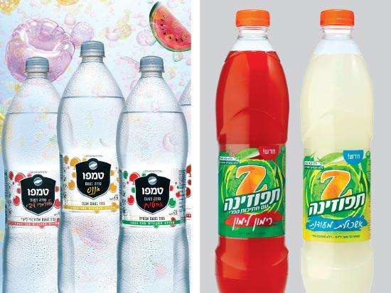 """משקאות של יפאורה (מימין) וטמפו / צילומים: יח""""צ"""
