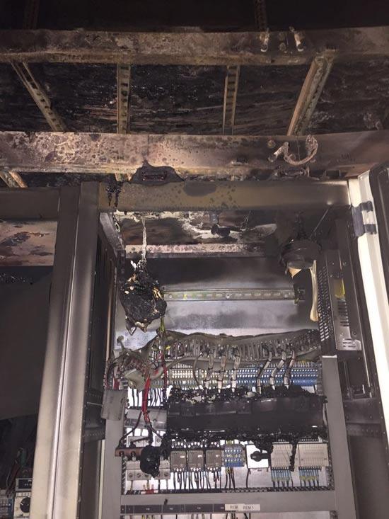 חדר החשמל השרוף/צילום :יחצ פלאפון