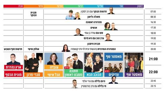 לוח השידורים החדש של קשת