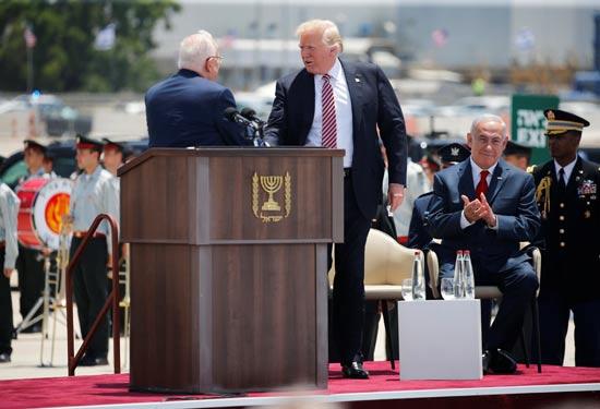 הנשיא ראובן ריבלין והנשיא דונלד טראמפ / צילום: רויטרס