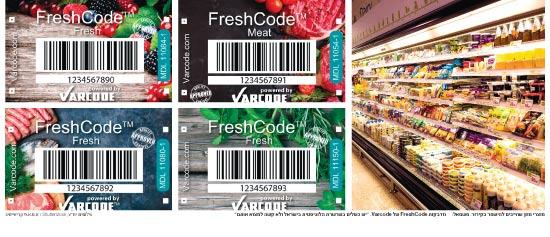 מזון שחייב להישאר בקירור ומדבקות של מדבקות FreshCode של Varcode / יחצ ושאטרסטוק