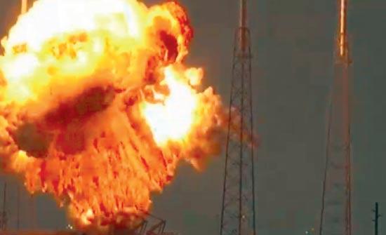 רגע הפיצוץ של הלווין עמוס 6 בקייפ קנוורל שבפלורידה / צילום: רויטרס