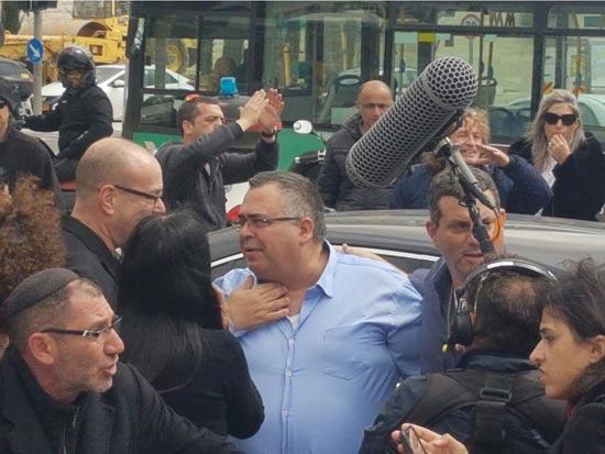 הפגנות עובדי רשות השידור היום בירושלים / צילום: עובדי רשות השידור