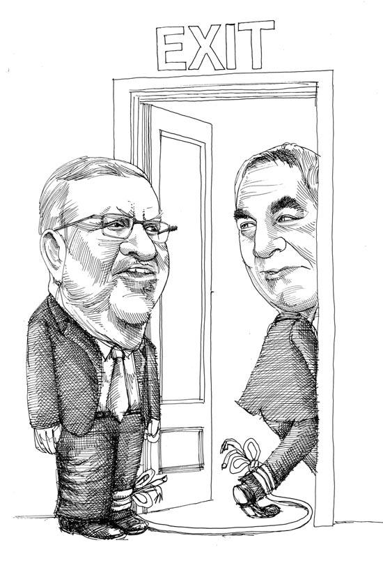 יצחק פטרבורג וארז ויגודמן / איור: גיל ג'יבלי