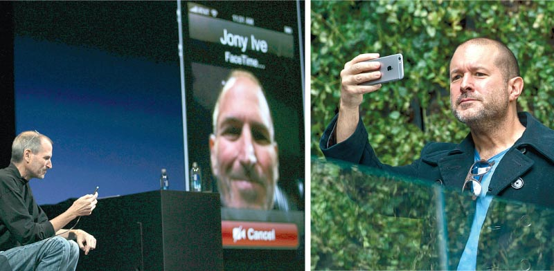 סטיב ג'ובס מדגים שיחת וידאו עם ג'וני אייב / צילומים: רויטרס ובלומברג