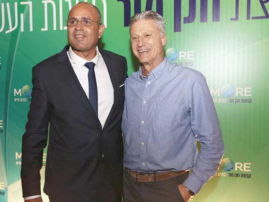 מיקי ברקוביץ ואבי מאור / צילום: פביאן קולודורף