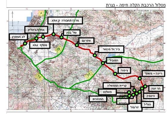 מסלול  הרכבת קלה מחיפה לנצרת  / RDV Systems