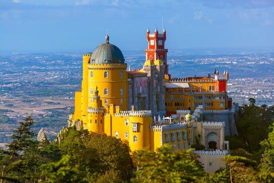 צבעוני ומפואר, ארמון פנה בעיירה סינטרה/ צילום: Shutterstock/ א.ס.א.פ קרייטיב