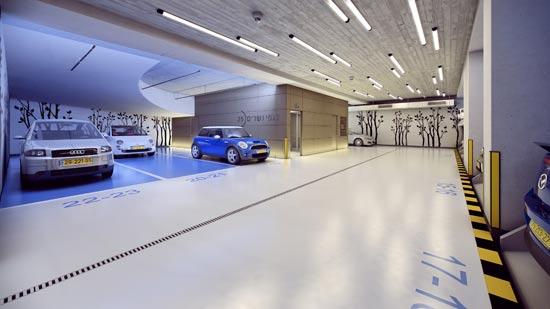 פיתרון חנייה מודרני / צילום: חברת יעז- יזמות ובנייה