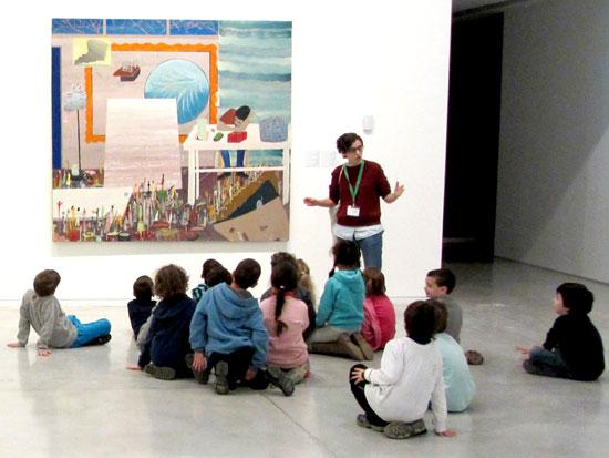 """פעילות במוזיאון ת""""א לאמנות / צילום: דוברות אגף החינוך של מוזיאון תל אביב"""