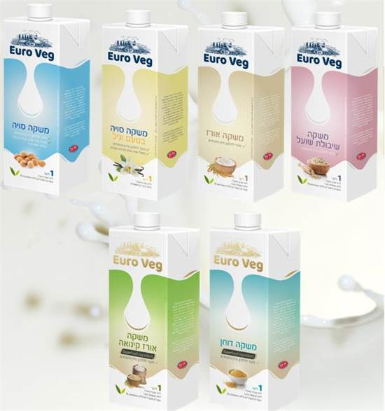 """סדרת תחליפי חלב  """"Euro Veg"""" שתייבא וילי פוד / צילום: יח""""צ"""