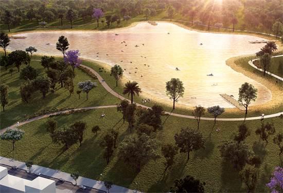 """האגם המלאכותי בפארק הנחל, ב""""ש. הגדול בישראל/צילום: olin"""