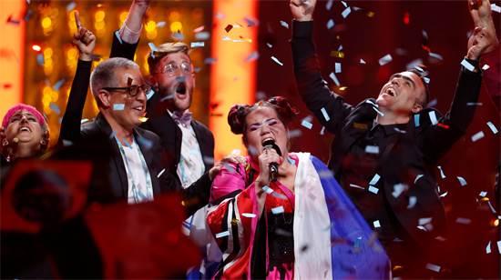 רגע הניצחון באירוויזיון / צילום: רויטרס
