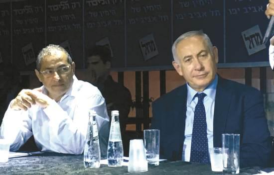 בנימין נתניהו בכנס בחירות בתל אביב / צילום: קמפיין ארנון גלעדי