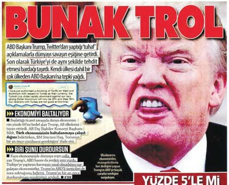 עיתון שמרני דתי מתאר את טראמפ כשטן