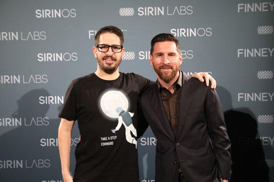 משה חוגג וליאו מסי  באירוע השקת Finney בברצלונה /יח״צ סירין לאבס