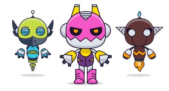 CryptoBots - רובוטים הנלחמים זה בזה בדומה למשחקי מכות של פעם
