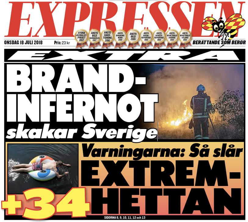 אש תופת בשבדיה