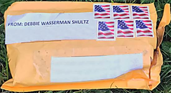 """אחת מחבילות הנפץ שנשלחו למתנגדי טראמפ ברחבי ארה""""ב / צילום: רויטרס"""