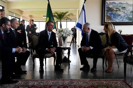 בנימין נתניהו ונשיא ברזיל ז׳איר בולסונארו / צילום: אבי אוחיון לע״מ