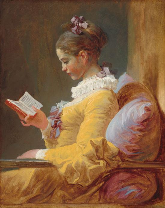 הקוראת, ז'אן אונורה פראגונר, 1770. טכנולוגיית ספקטרוסקופיה גילתה את השינויים שנעשו בציור