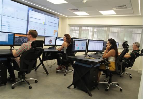 מוקד Cyber-Dome של בינת תקשורת מחשבים /צילום: אילון יחיאל