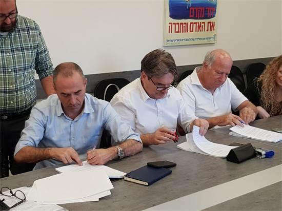 חתימת הסכם אל על והטייסים / קרדיט: דוברות ההסתדרות