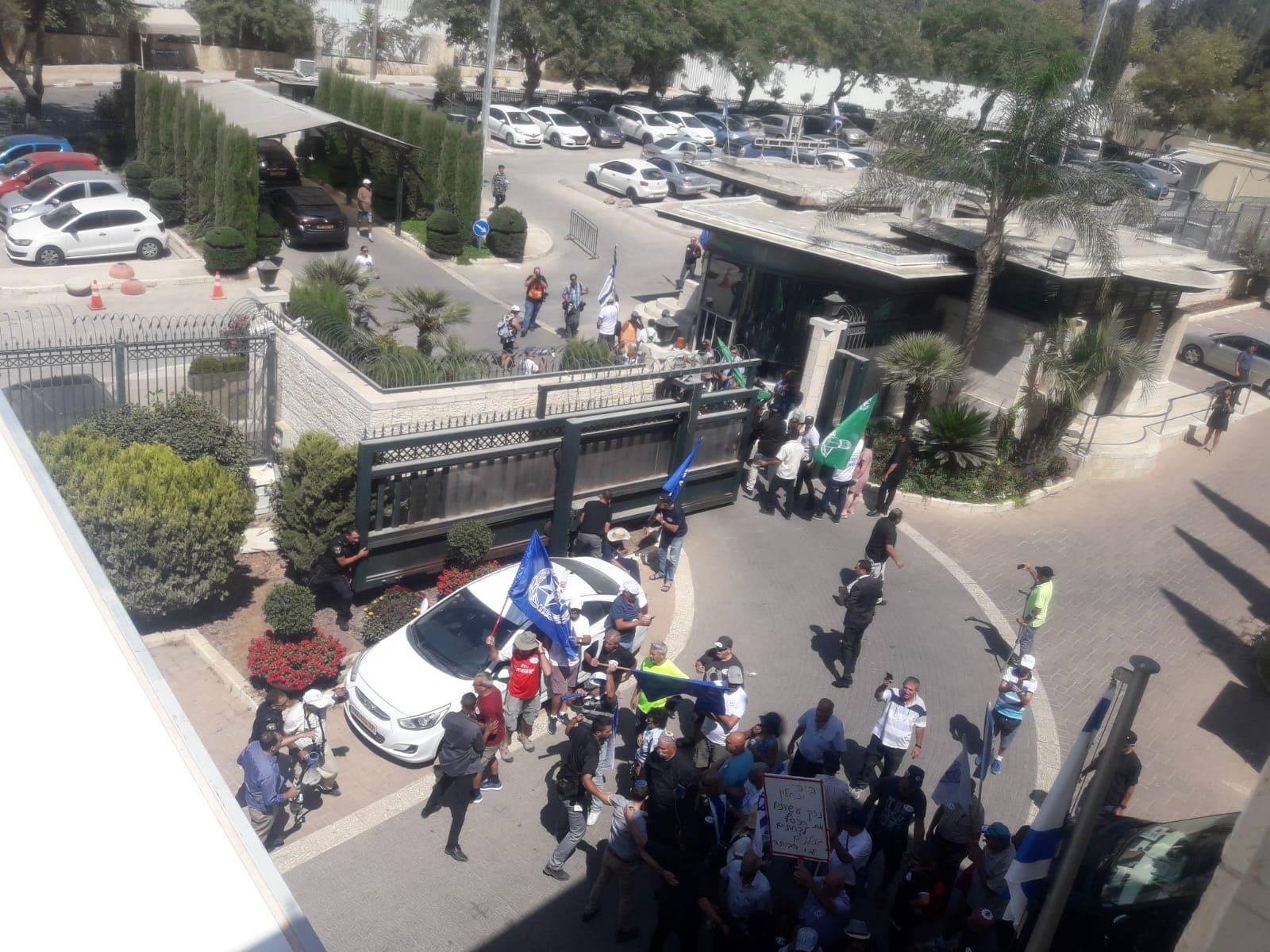 הפגנת גמלאי כוחות הביטחון בירושלים