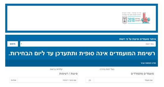 """צילום מסך מתוך אתר """"בוחרים"""""""