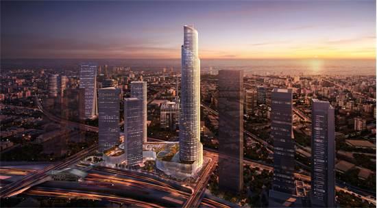 מגדל הספירלה - מגדל עזריאלי הרביעי / הדמיה: KPF