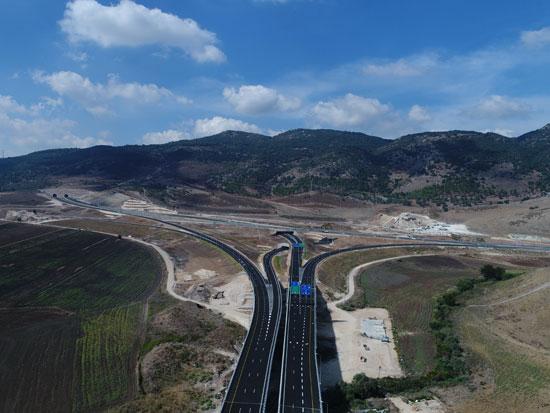 המקטע החדש בכביש 6 / צילום: o-fly עבור חברת כביש חוצה ישראל - יחצ