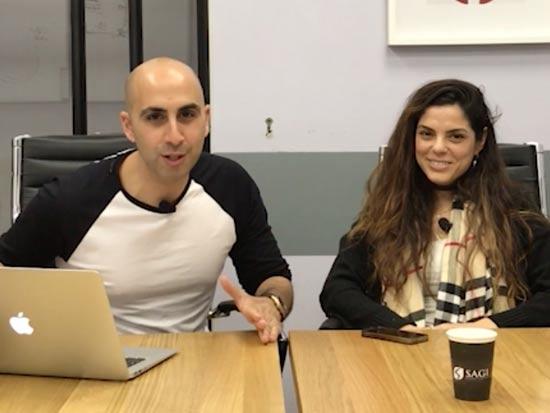 ירון שגיא ועדי ברוזה מרגוליס, מנהלת צוות מוצר בחברת Fiverr/צילום: מתוך התוכנית Ask