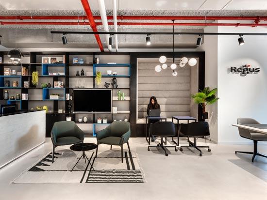 מרכז העסקים של Regus בירושלים/ צילום: סמדר עודד; עיצוב: אורלי דקטר