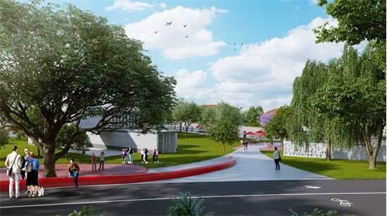 הדמיית פארק קריית המוזיאונים רמת גן / קרדיט: ברוידא-מעוז