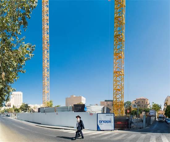 אתר הבנייה של פרויקט שלם טאוור בירושלים / צילום: רפי קוץ