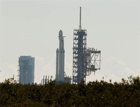 כן השיגור של Falcon Heavy / צילום: רויטרס - מייק בראון