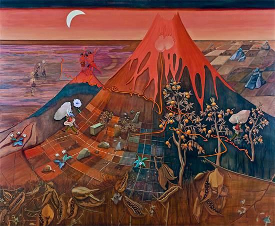 יצירה של  נורית דוד, אמנית גלריה גבעון