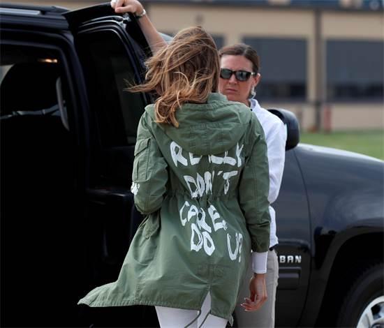 מלאניה טראמפ והמעיל של זארה / צילום: רויטרס