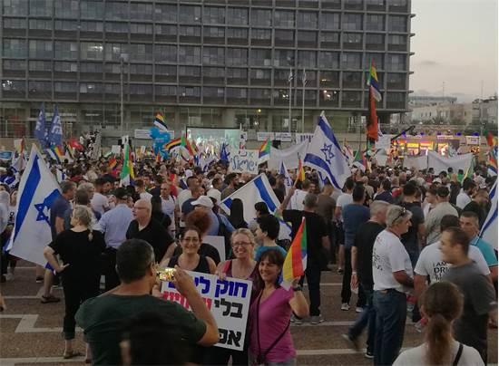 מחאת חוק הלאום / חיים רוזנברג